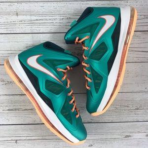 Nike Lebron X Atomic Teal Basketball 541100 302
